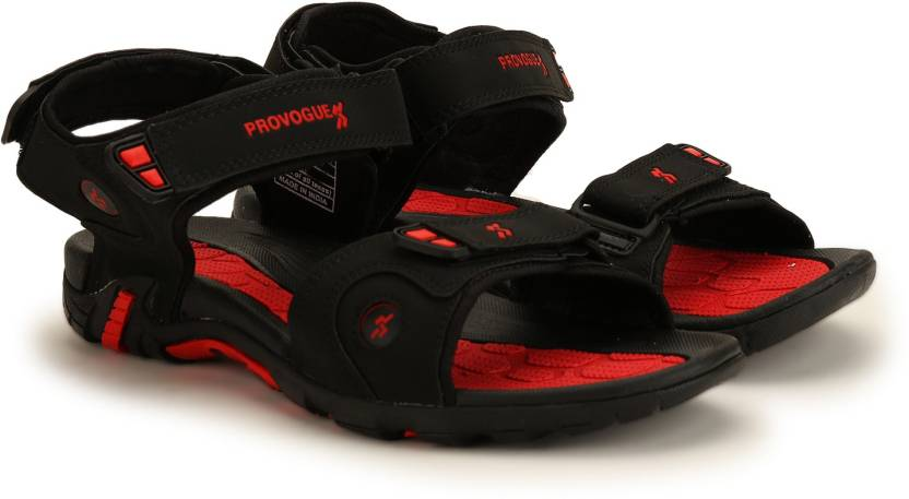 Provogue Men D.Gray-Red Sports Sandals