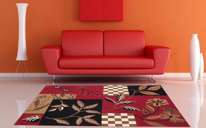 as handloom red black gold acrylic carpet buy as handloom red rh flipkart com