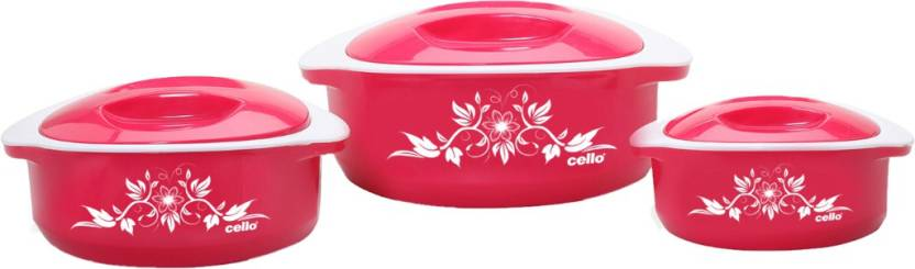 Cello Hot Meal Pack of 3 Casserole Set
