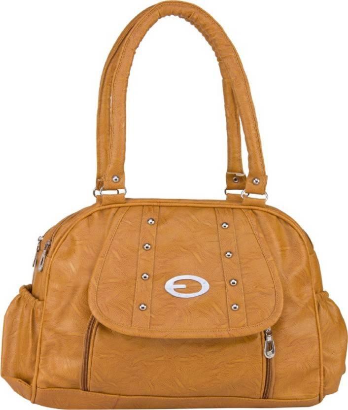 Buy Mango Star Hand Held Bag Tan Online Best Price In India