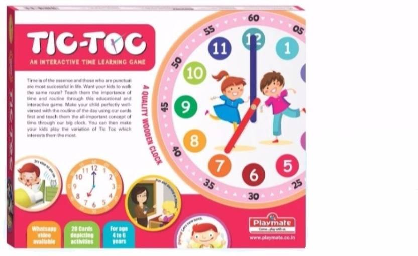 Playmate Tic Toc - Time Learning Educational Game  Age 4 to