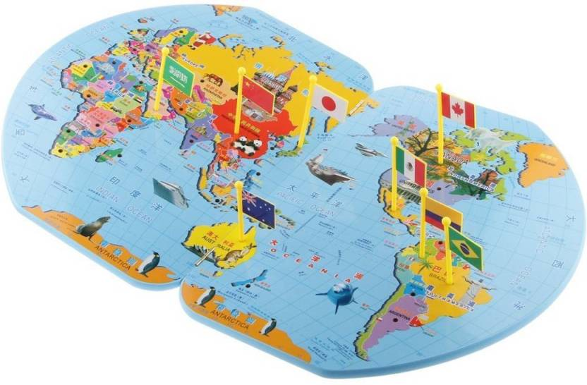 Trinkets & More - Wooden World Map with 36 Flags | Puzzle ... on map usa state map game, map of united states game warden, map of asia, map of usa states to learn,