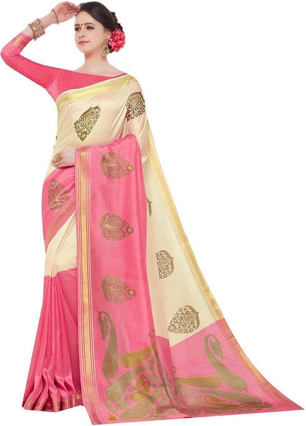 Sunaina Printed Bollywood Poly Chanderi Saree  (Multicolor)