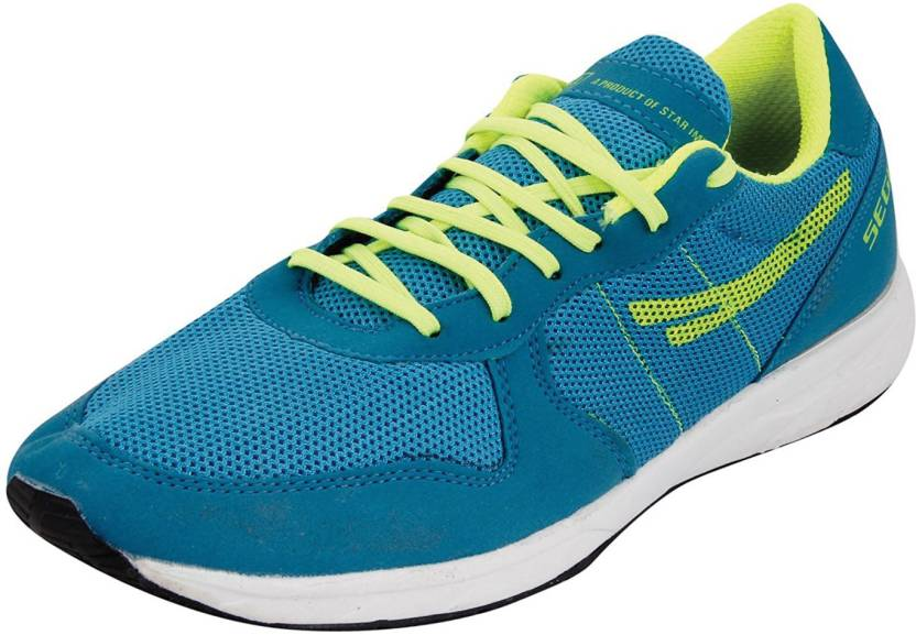 SEGA Unisex blue green Marathon Running Shoes For Men | Buy SEGA ...