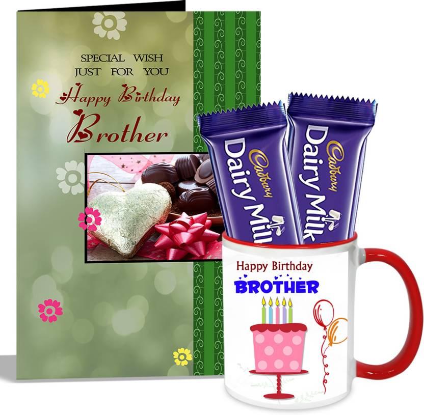 alwaysgift happy birthday brother mug with card hamper mug gift set