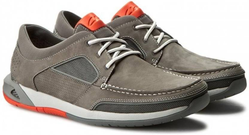 Clarks Ormand Sail Light Brown Lea Sneakers
