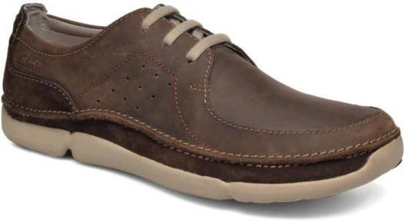Clarks Trikeyon Fly Brown Leather Outdoors For Men