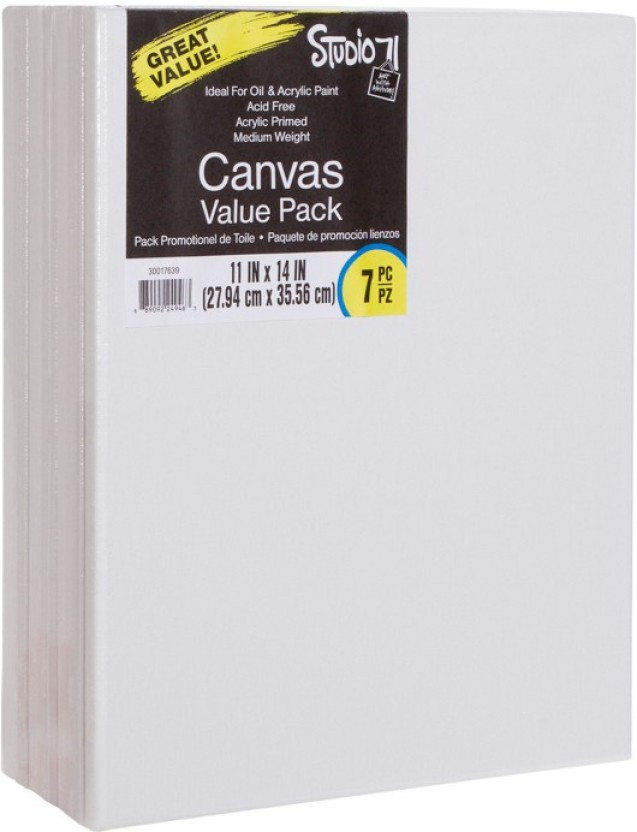 4 pack Darice 18-Inch-by-24-Inch Stretched Canvas,