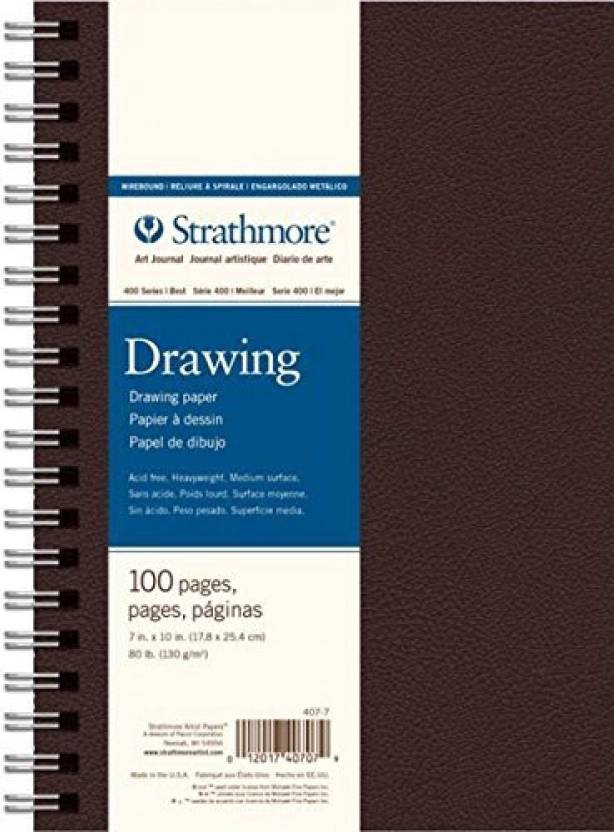 Strathmore Paper 407 9 400 Series Wirebound Art Drawing Journal