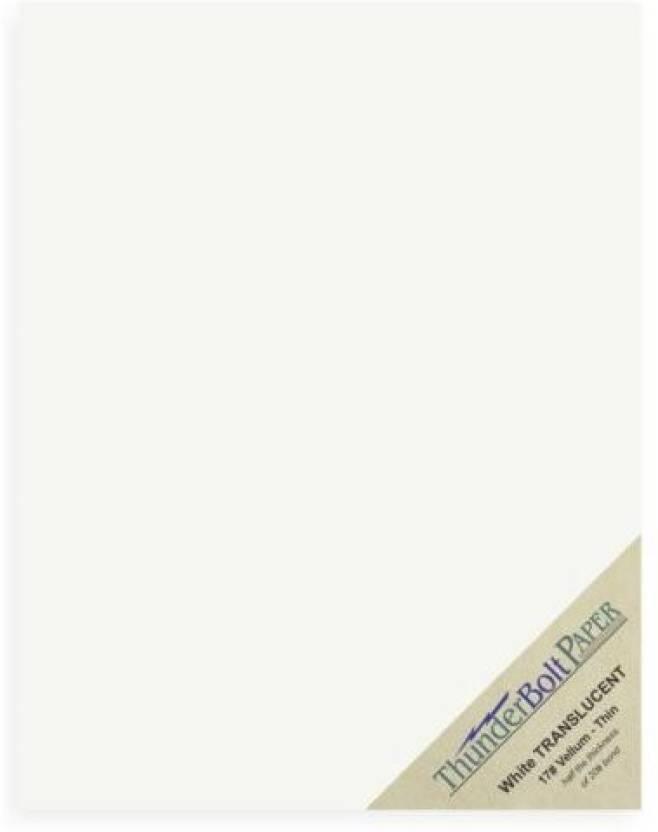 thunderbolt paper 100 soft off slucent 17 thin sheets 8 5 x 11