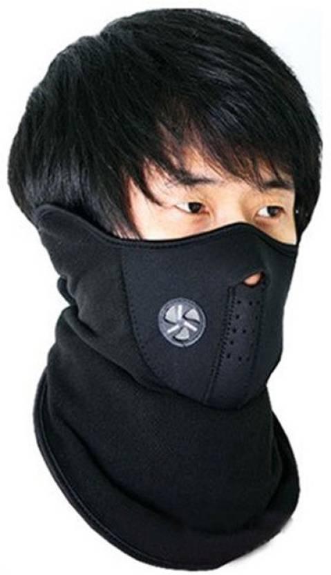 Viyasha Face Mask Neck Cover Neoprene for Riding Bike Dust Sun Heat  Protection Anti-pollution Mask Balaclava (Black f898ccda8