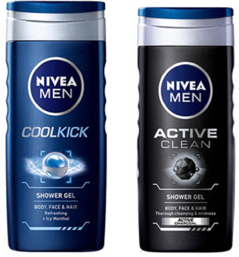 Nivea MEN ACTIVE CLEAN SHOWER GEL 250ML + MEN COOL KICK SHOWER GEL 250ML