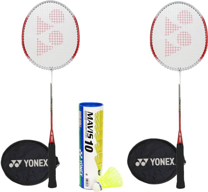 Yonex GR301 Mavis Combo Badminton Kit(2 GR301 Badminton Racquets,1 Mavis 10 Shuttlebox (Pack of 6) Kit