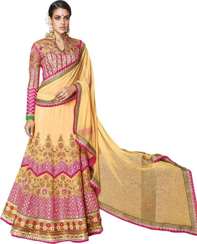 Saara Self Design, Embellished, Embroidered Women Lehenga Choli