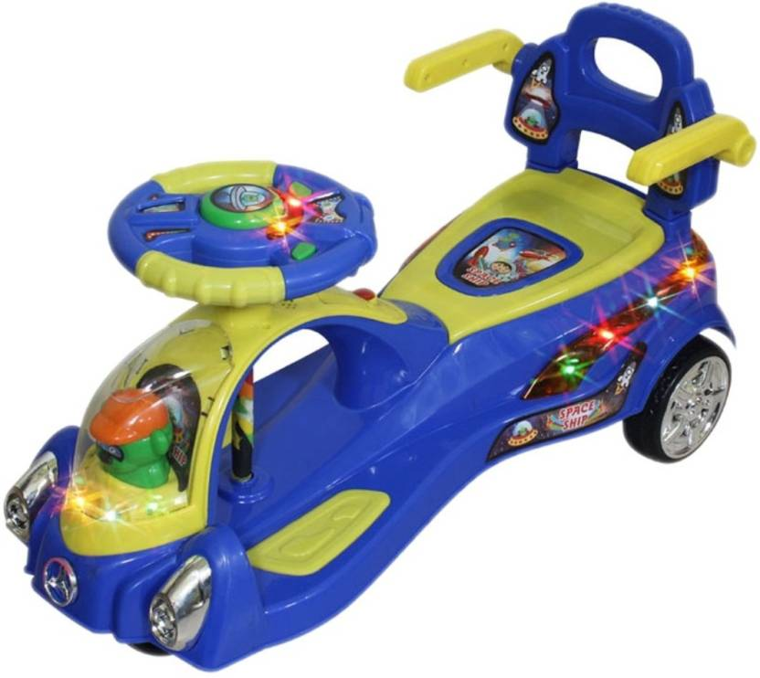 Toyshine Beautiful Designed Space Magic Car in {BLUE}with Light And Music