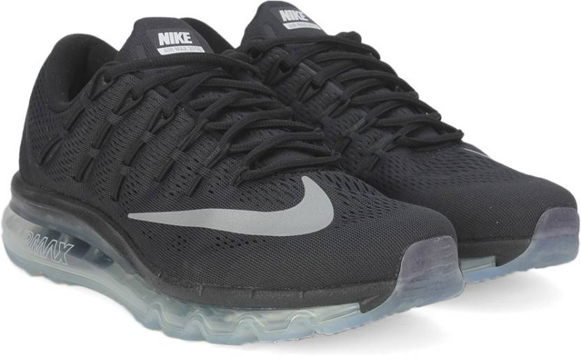 hot sale online 67a20 79eb7 Nike AIR MAX 2016 Running Shoes For Men (Black, White)