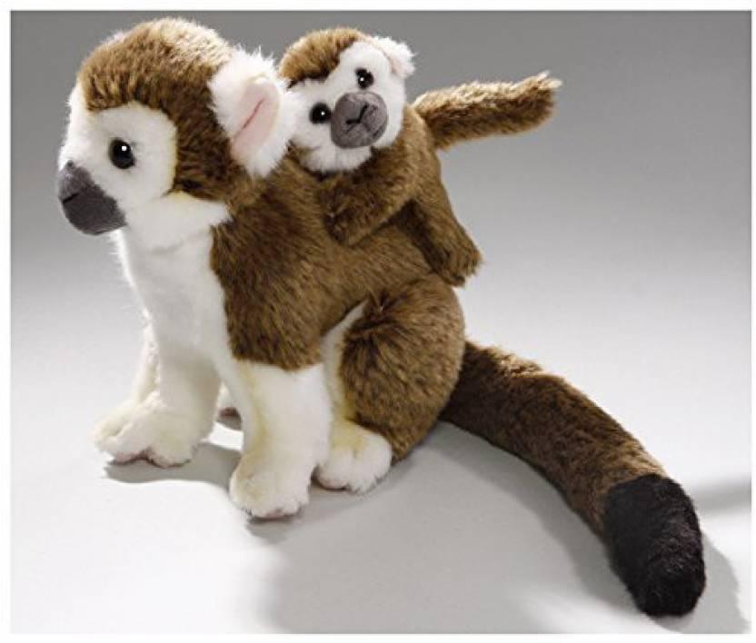 Carl Dick Stuffed Animal Monkey Squirrel Monkey With Baby Plush Toy