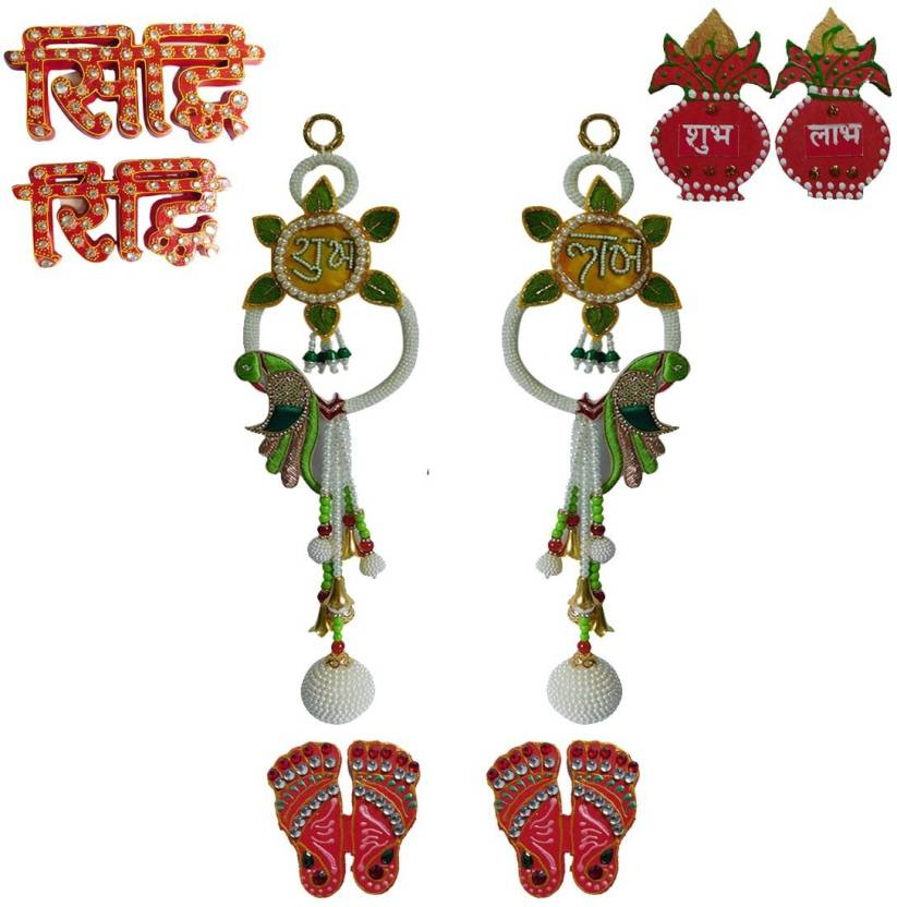 69927a7c4 Vanya Fashions Vanya Fashions Diwali Special traditional Subh Labh Door  Hanging Toran With Wooden Self Adhesive
