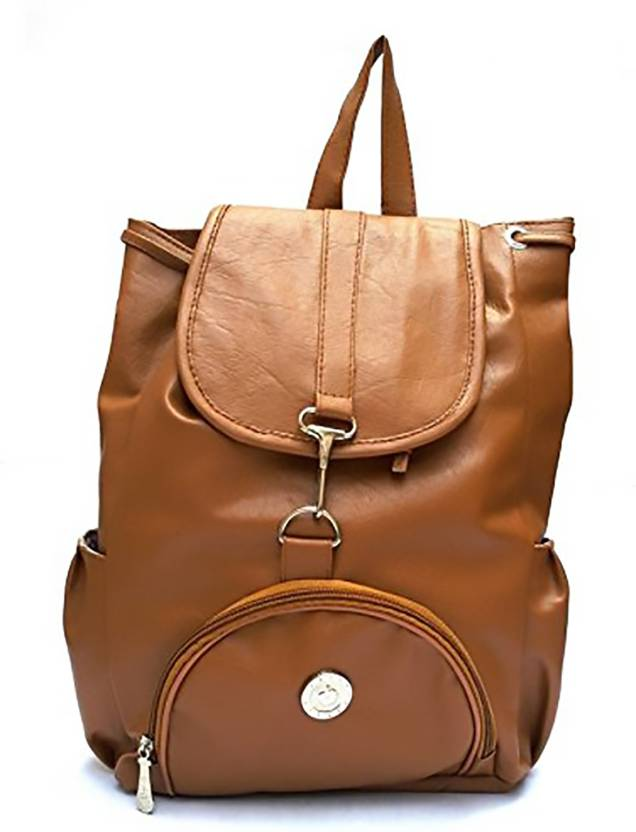04c75d17bd65 Paras Fashions Paras Fashions  Women s Stylish Leatherette Criss Cross  Backpack - Light brown Waterproof Multipurpose Bag (Multicolor
