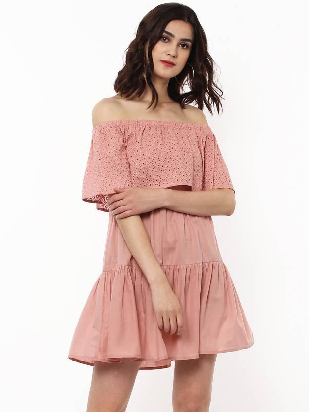 031cc53e5e196 Sassafras Women s Layered Pink Dress - Buy Sassafras Women s Layered Pink Dress  Online at Best Prices in India