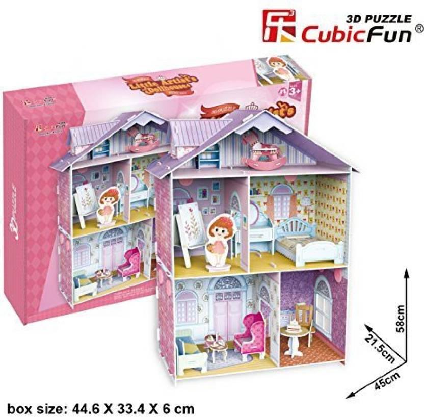 Cubicfun 3d Little Artist S Dollhouse K1201h Brand Name 3d Little