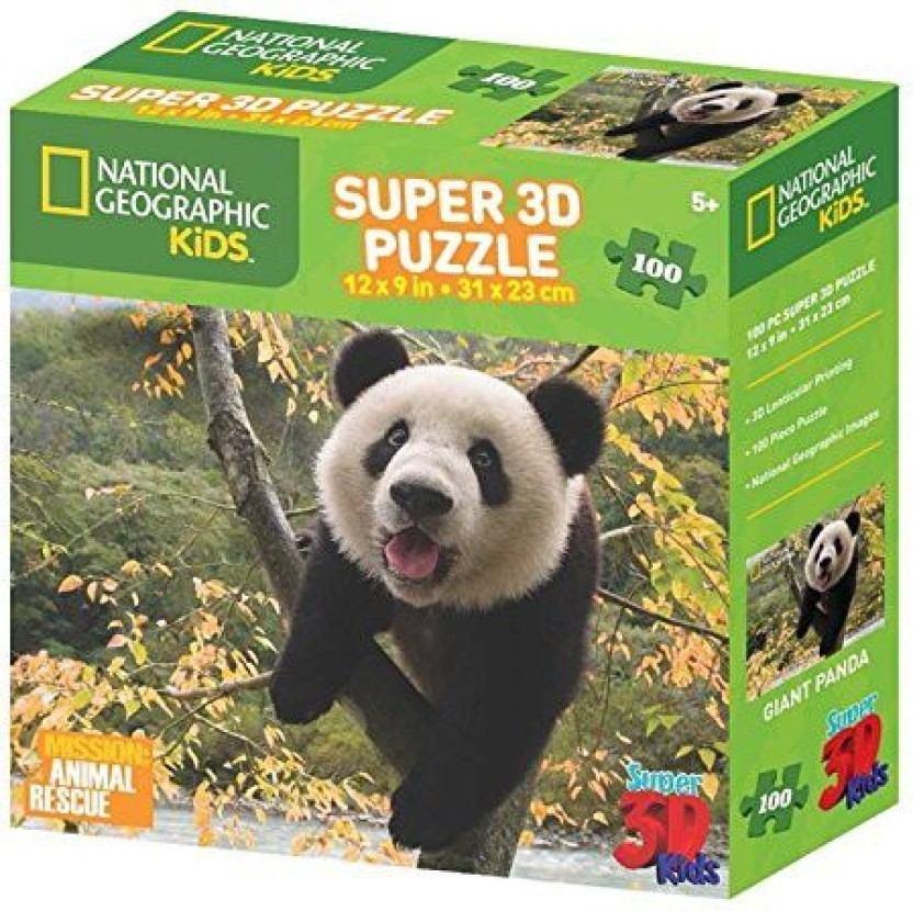 Kids Gift item 3D Blocks 72 Piece PANDA Jigsaw Puzzle Set