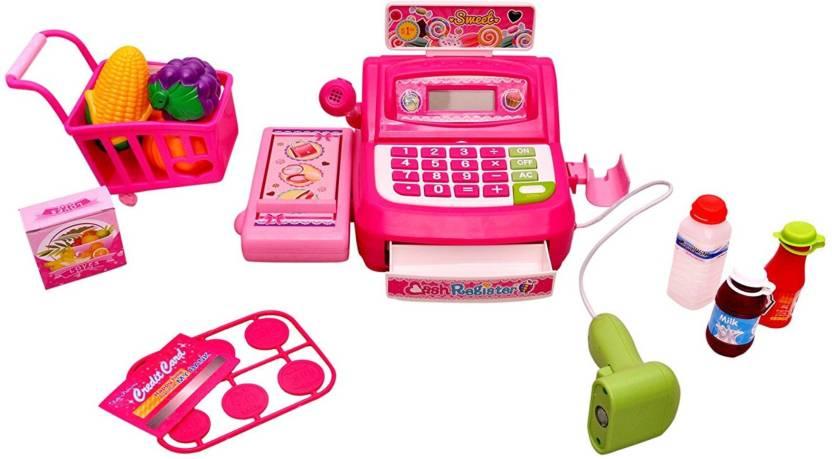 Toyshine Supermarket Shopping Cash Register Play Set, With
