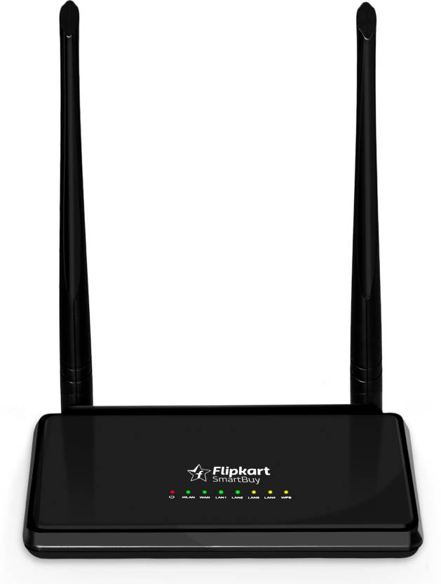 Flipkart SmartBuy Power Boost 300Mbps Wireless N Router  (Black)