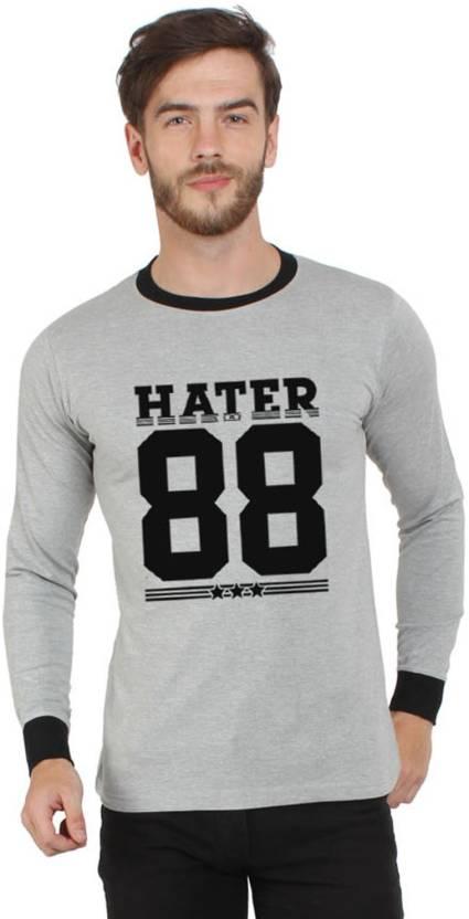 SayItLoud Printed Mens Round Neck Grey, Black T-Shirt