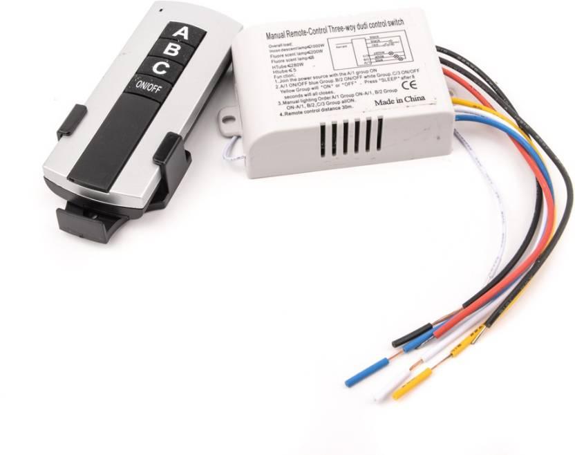 ACCESSOREEZ Wireless remote switch 20 Three Way Electrical Switch ...