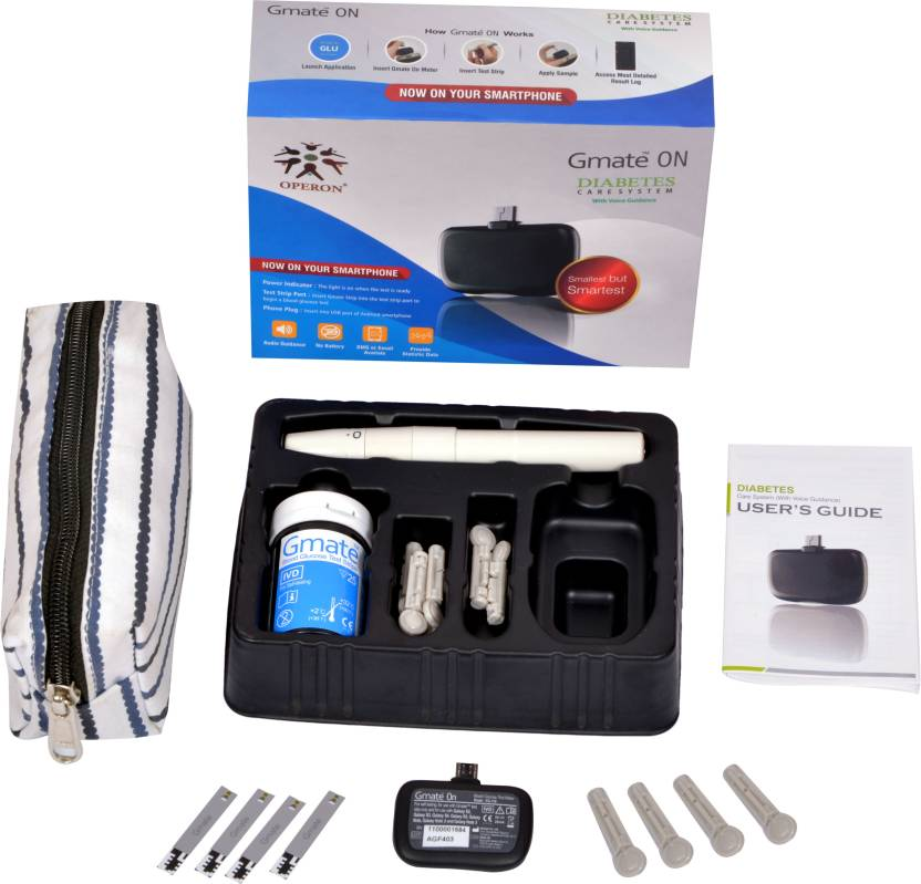 Operon Gmate ON Glucometer  (White)