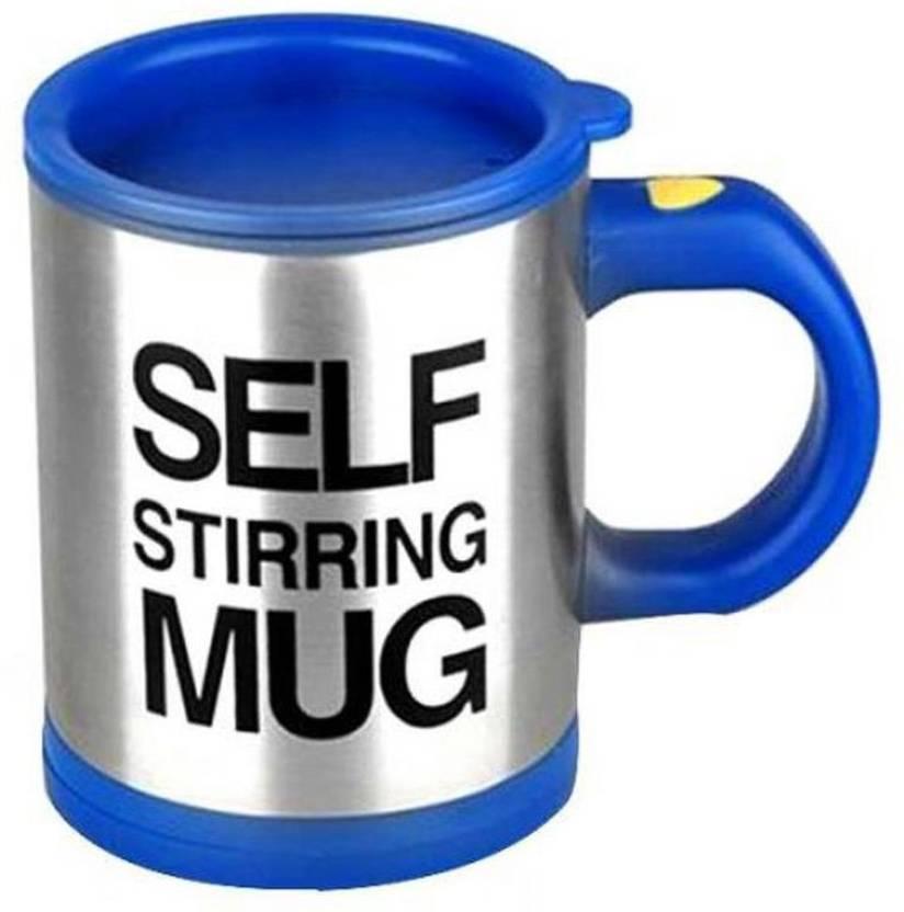 4d01571f58e Wishpool SELF STIRRING MUG blue Plastic Mug