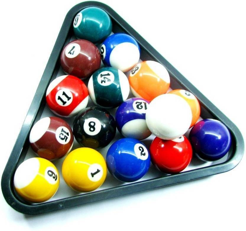 HE RETAIL SUPPLIES Triangle Setter And Pool Balls (Set Of 16) Pool Balls