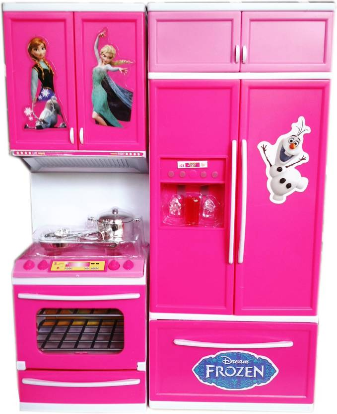 Vshine Supercool Frozen Style Modern Kitchen Set With Light Music