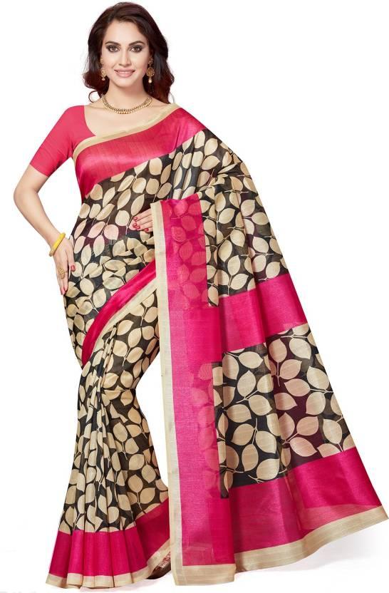 1a1ec304bf8 Buy Ishin Printed Bollywood Art Silk Multicolor Sarees Online   Best ...