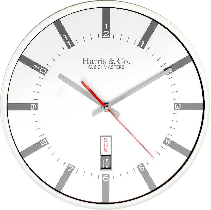 Harris & Co. Clockmasters Analog 33 cm Dia Wall Clock