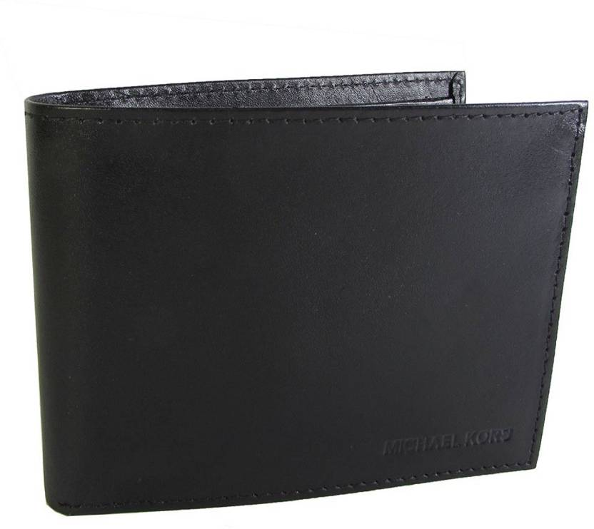 dbd0ac131413 Michael Kors Men Black Genuine Leather Wallet Black - Price in India ...