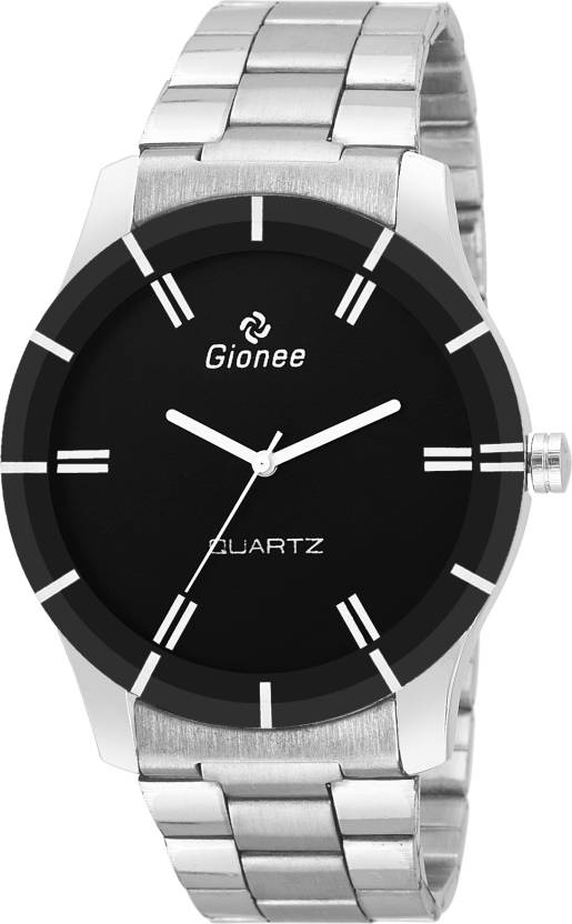 cc8fdc2c4355 Gionee Gion Official Class Gionee Official Class Analog Black Dial Silver  Chain Wrist Watch - For Men - Buy Gionee Gion Official Class Gionee  Official Class ...