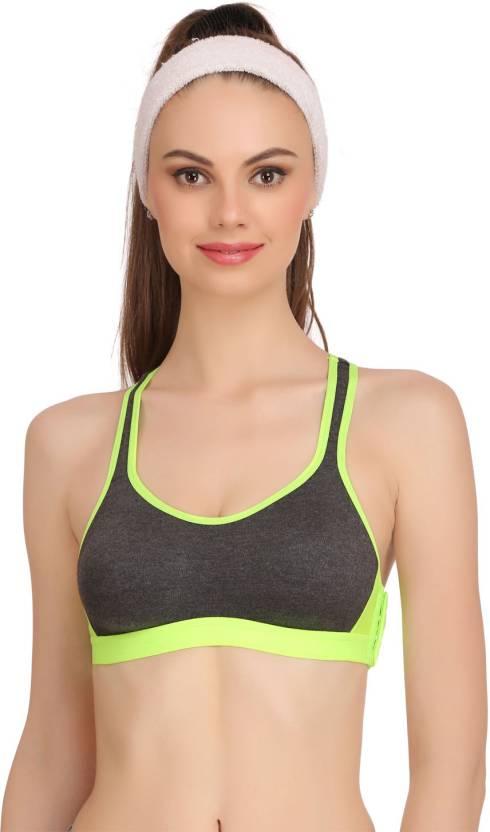 0635d34cf465c Popocracy Women s Sports Lightly Padded Bra (Light Green)
