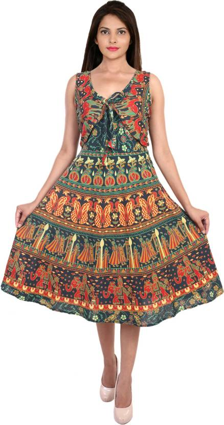 Decot Paradise Women Skater Multicolor Dress