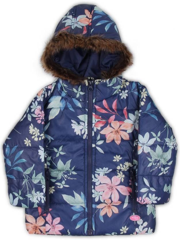 afbfee6eab2e 612 League Full Sleeve Floral Print Baby Girls Jacket - Buy NAVY 612 ...