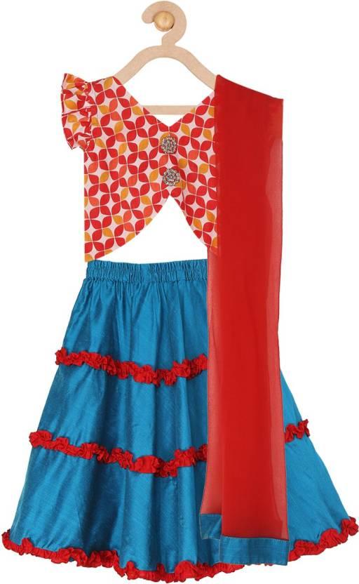 3548b7a1eb579 Sugar Candy Baby Girls Lehenga Choli Ethnic Wear Solid Ghagra, Choli ...