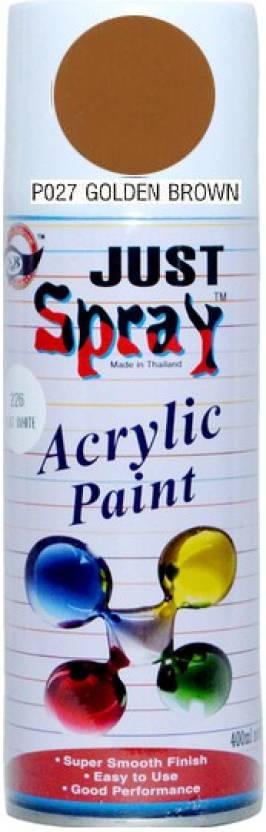 Just Spray P027 Golden Brown Paint 400 Ml