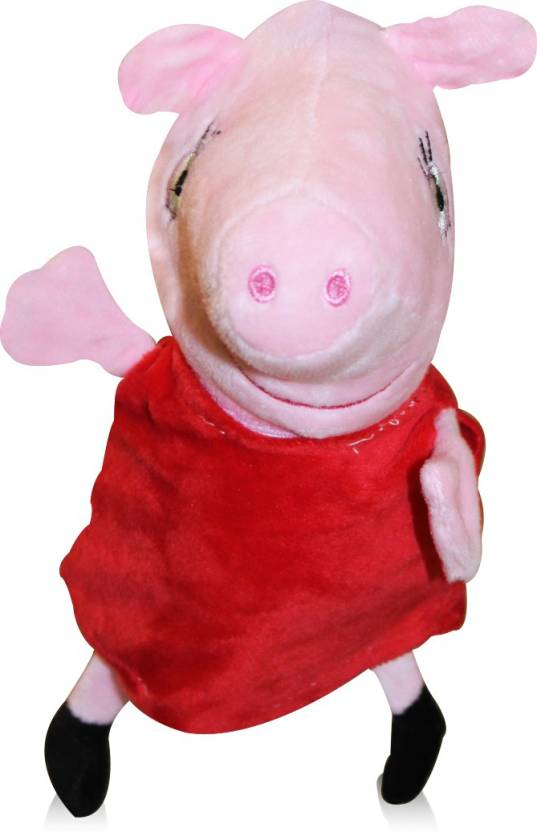 Rma Peppa Pig Plush 10 Inches Stuffed Animal With Small Red Dress
