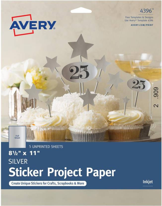 Avery Dennison Full-Sheet Sticker Project Paper 8 5