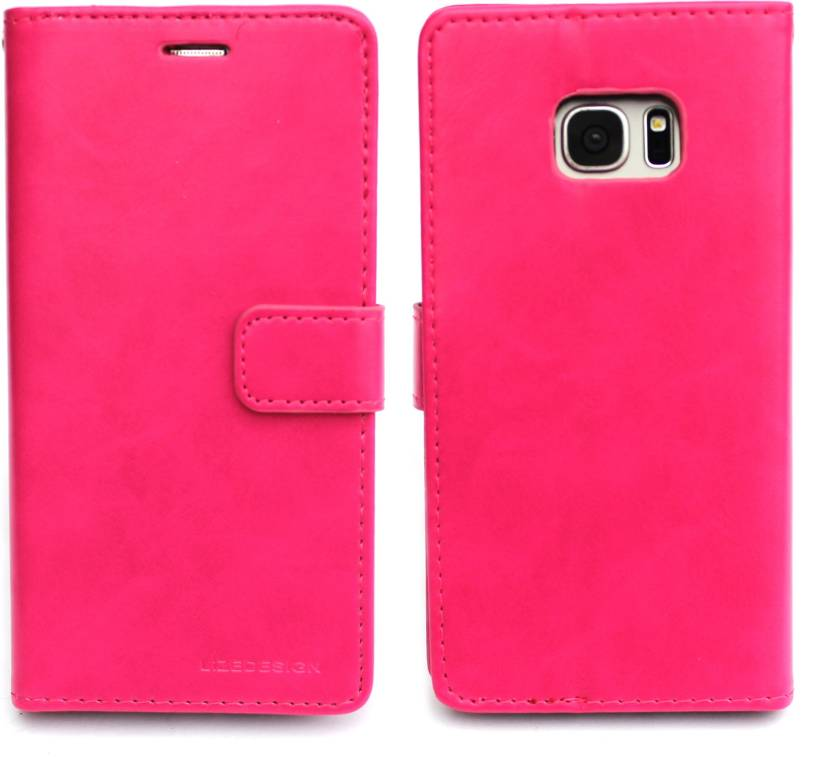 Fashion Flip Cover for Samsung Galaxy S7 Edge Pink