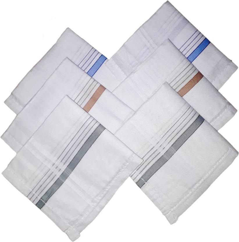 8ca6d782dc43a Modish Vogue Set of 6 colored strips handkerchiefs Handkerchief (Pack of 6)