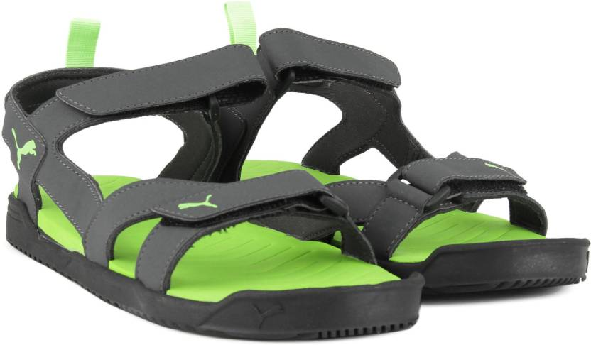 64b2523ad452 Puma Men Asphalt-Puma Black-Green Gecko Sandals - Buy Asphalt-Puma Black- Green Gecko Color Puma Men Asphalt-Puma Black-Green Gecko Sandals Online at  Best ...