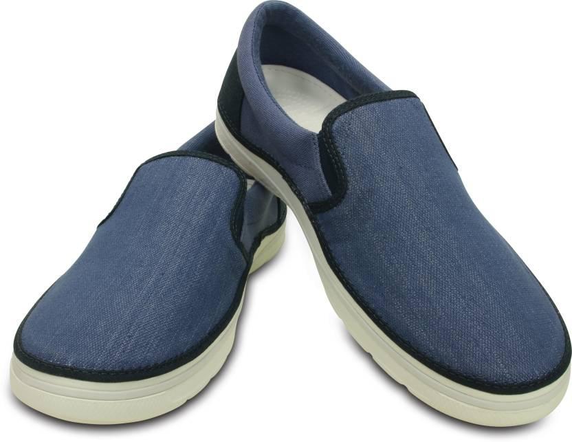 4d1800145a609 Crocs Norlin Canvas Slip-on M Sneakers For Men - Buy Blue Color ...