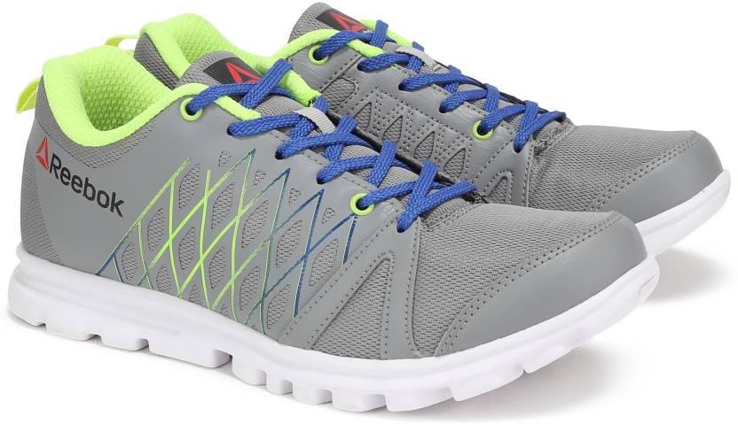 REEBOK PULSE RUN Running Shoes For Men - Buy FLAT GREY NEON YELLOW ... 6c13ba18e